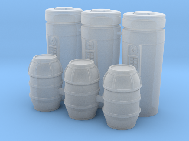 1:78 SW Cargo Cylinders in Smooth Fine Detail Plastic