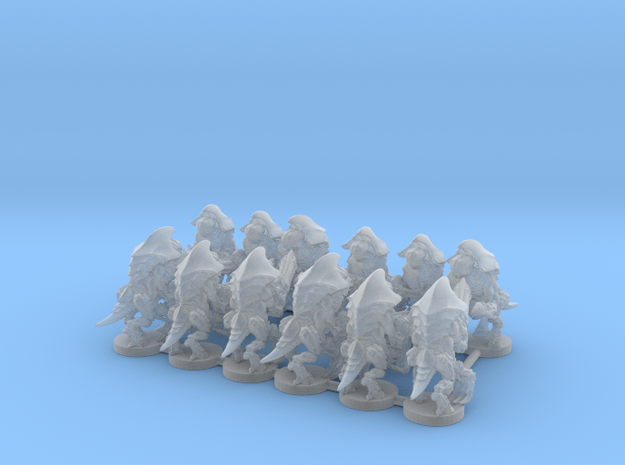 Alien Bug Sentry 12 Bases with one unit per base  in Smooth Fine Detail Plastic