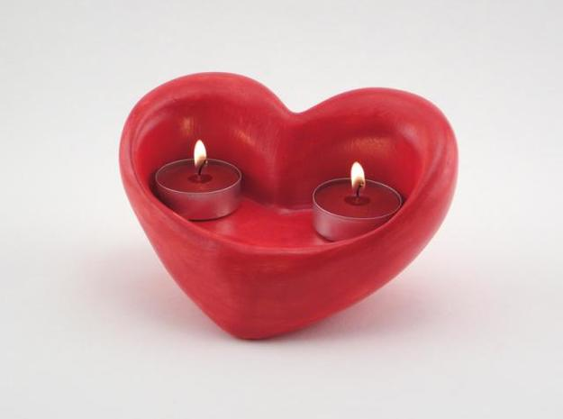 Twin Flames Votive Holder 3d printed