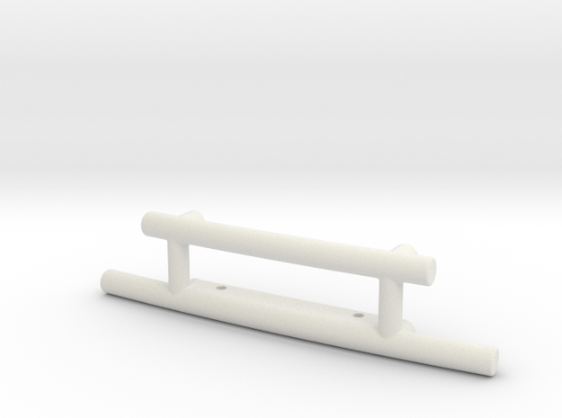 Trophy Truck Style Front Bumper in White Natural Versatile Plastic: 1:10
