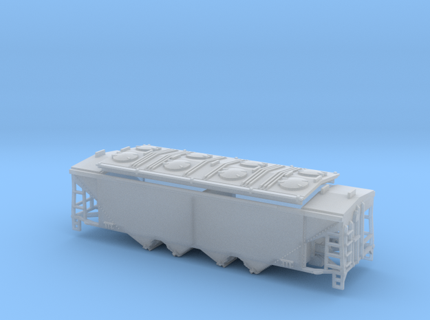U8 N Scale No Roofwalk in Smooth Fine Detail Plastic