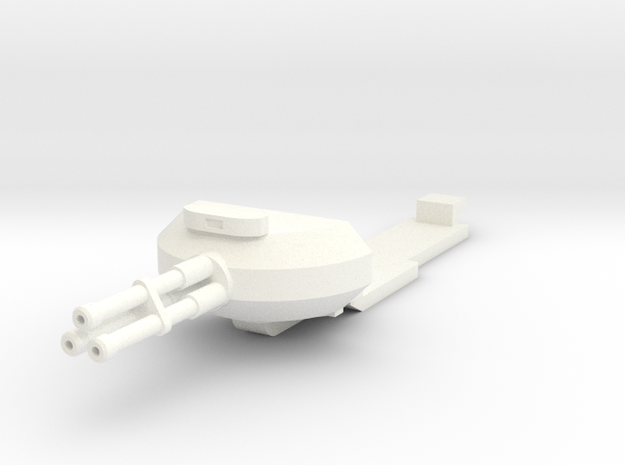 1:100 HALO Pelican Nose Gun (Gear up) in White Processed Versatile Plastic