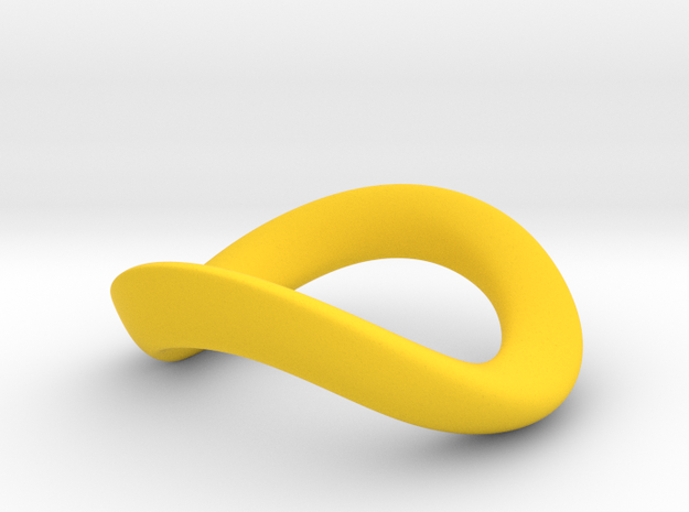 JNada CRing 55mm in Yellow Processed Versatile Plastic