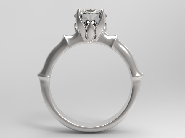 ENGAGEMENT RING - CA2 in Smooth Fine Detail Plastic