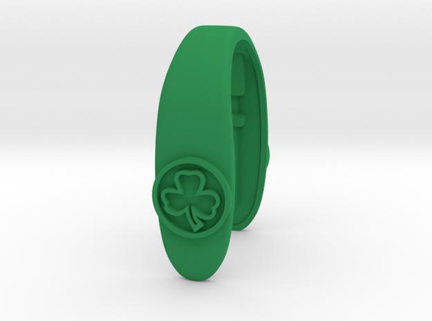 CELTICS CLOVER KEY FOB  in Green Processed Versatile Plastic