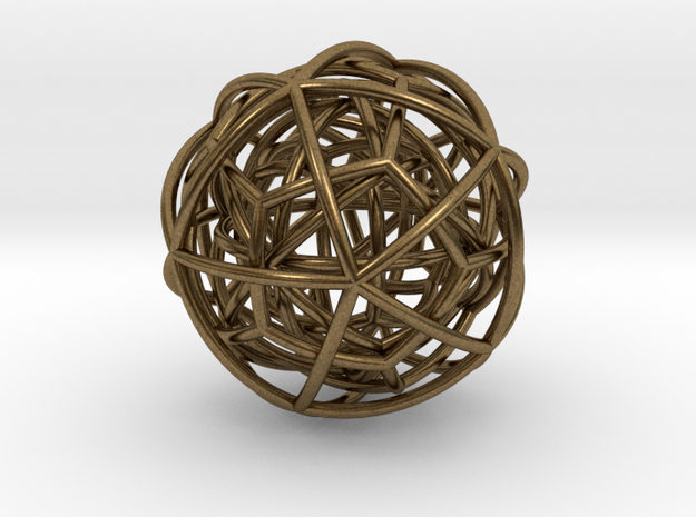 pendant platon interlocked in Natural Bronze (Interlocking Parts)