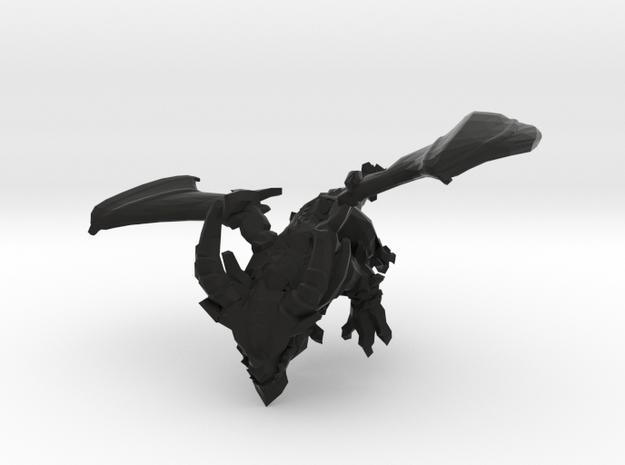 Snypher the Black Dragon in Black Natural Versatile Plastic