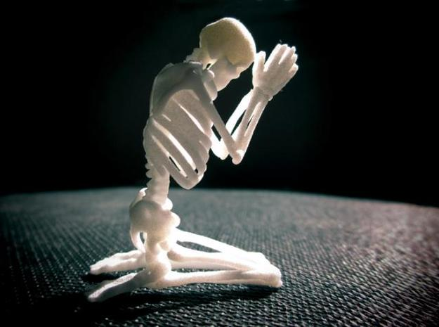 "Skeleton ""Pray..."" 3d printed"