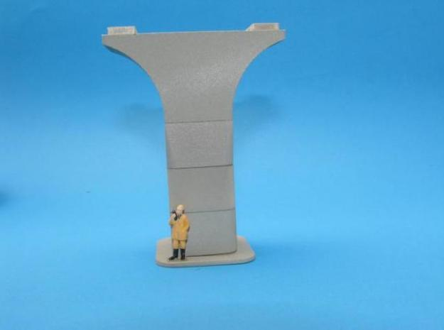 HO/1:87 Precast concrete bridge column set (wide) in White Natural Versatile Plastic