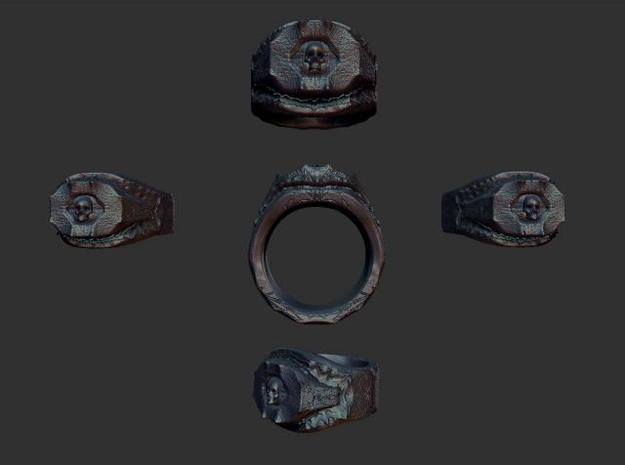 Ring of Necromancy (Pick your Size) 3d printed Zbrush image