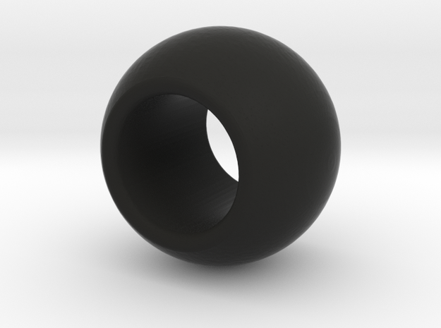 Mixel Ball w/ Hole in Black Natural Versatile Plastic