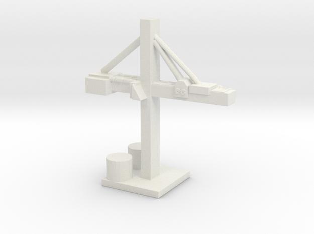 Shipyard Crane  in White Natural Versatile Plastic