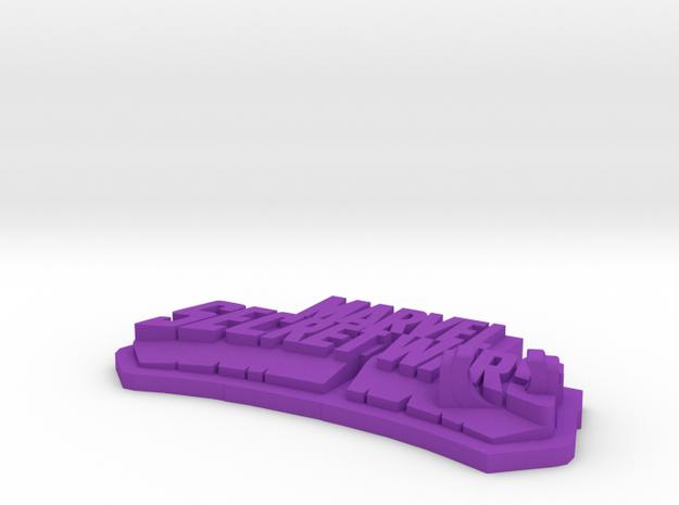 Base Display for Secret Wars 80's Figure in Purple Processed Versatile Plastic