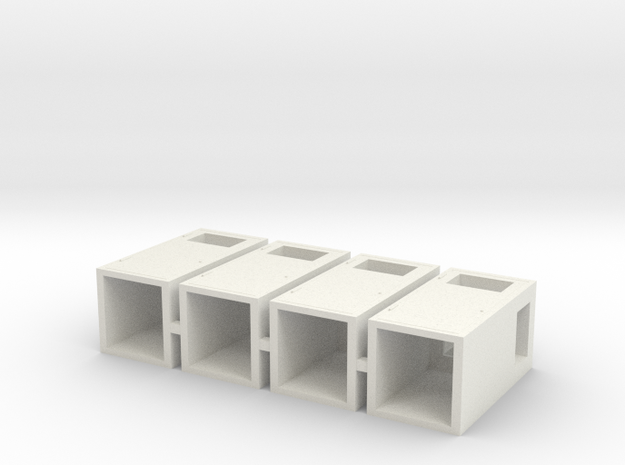 1:32nd litter bins for dioramas in White Natural Versatile Plastic