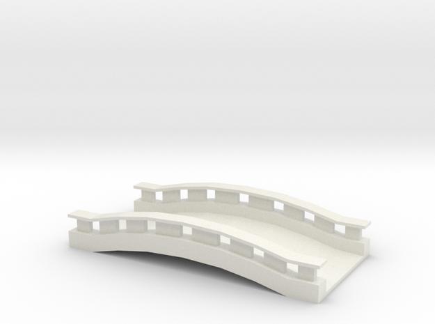 Commercial Bridge  in White Natural Versatile Plastic