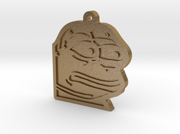 MonkaS Metal Version  in Polished Gold Steel
