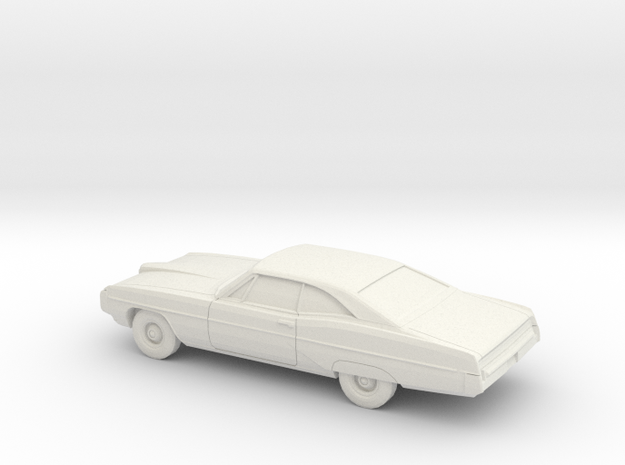 1/76 1968 Pontiac Bonneville Coupe in White Natural Versatile Plastic