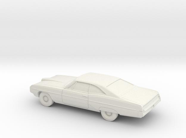 1/76 1968 Pontiac Bonneville Coupe in White Natural Versatile Plastic