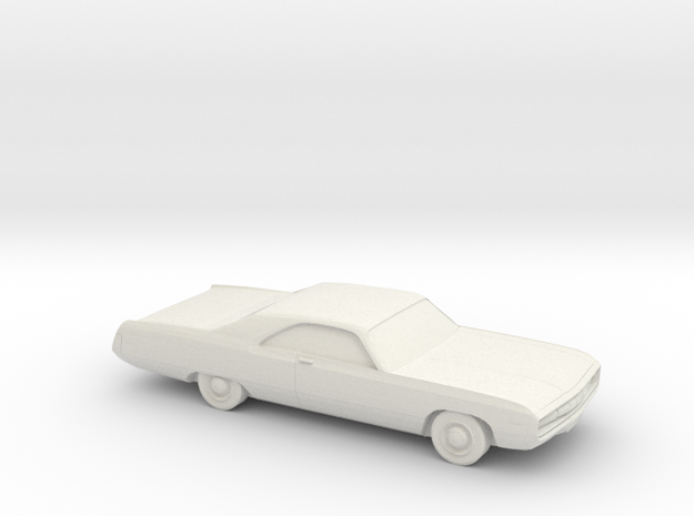 1/76 1970 Chrysler 300 in White Natural Versatile Plastic