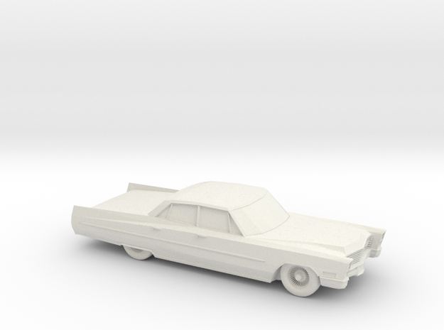 1/76 1967 Cadillac Sedan DeVille in White Natural Versatile Plastic