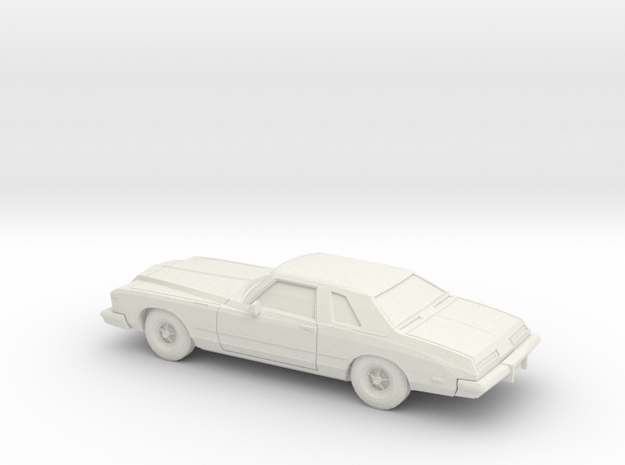1/76 1974 Buick Riviera in White Natural Versatile Plastic