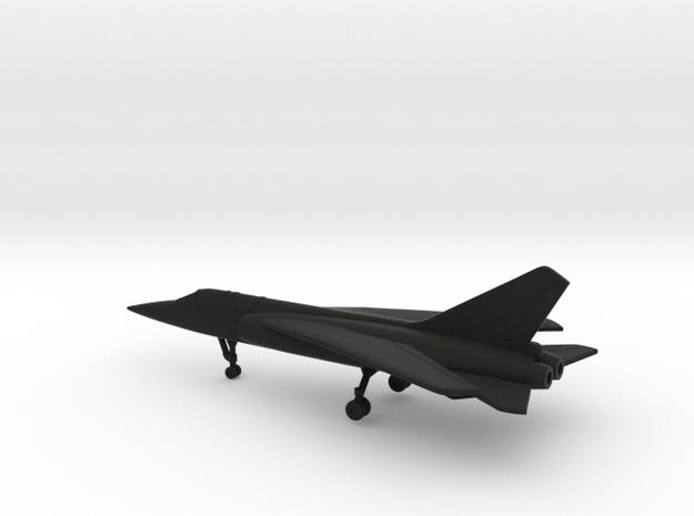 Dassault Mirage G.8 (swept wings) in Black Natural Versatile Plastic: 6mm