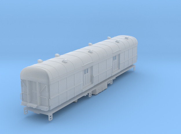 N-scale (1/160) PRR B60b Baggage Car Square Window in Smooth Fine Detail Plastic