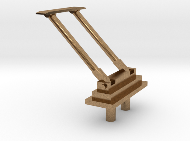 PB&SSR Bracket Pole Pantograph in Natural Brass