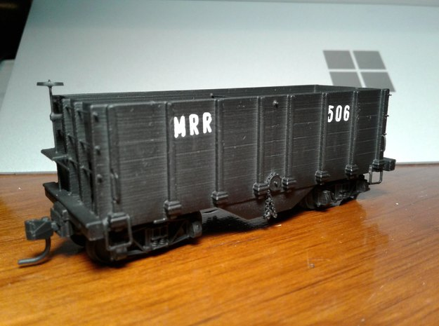 HOn3 hopper/ore car in Smooth Fine Detail Plastic