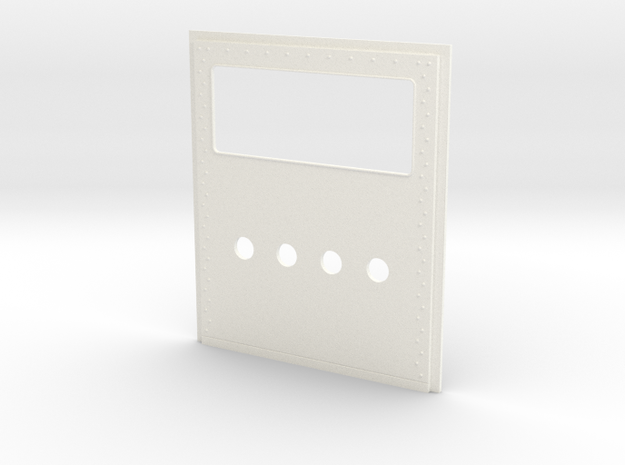 King Hauler Daycab Panel, Lg Window, 4 5mm Lights in White Processed Versatile Plastic