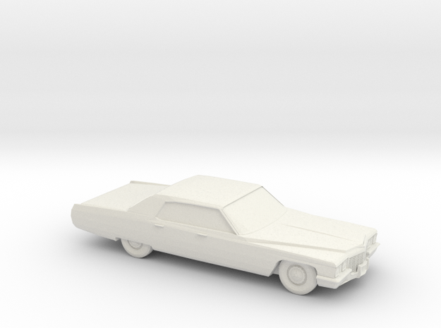 1/76 1972 Cadillac Sedan DeVille in White Natural Versatile Plastic