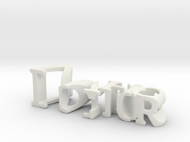 3dWordFlip: Doctor/Who in White Natural Versatile Plastic