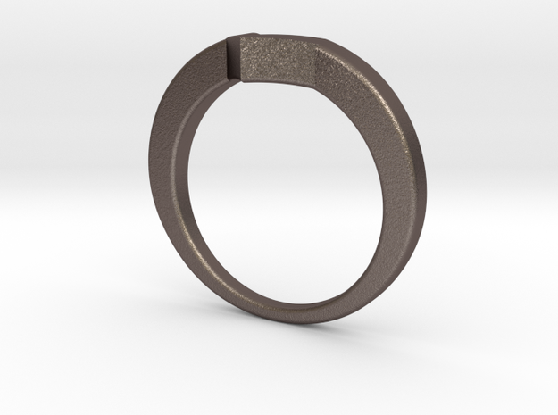 Stainless Steel Size US6.5 Voltron Inspired Ring in Polished Bronzed Silver Steel