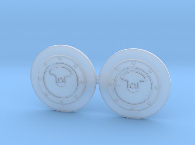 ATL Fuel Caps w/ Door 1/10 Scale in Smoothest Fine Detail Plastic