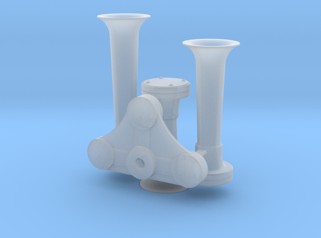 1/14 Train Air Horn 3-Chime Type A in Smooth Fine Detail Plastic
