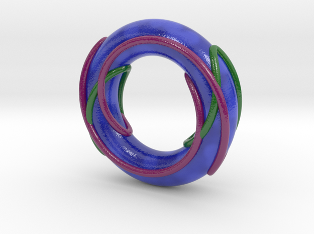 Color Prime Link 6^2_3 on a Torus in Glossy Full Color Sandstone