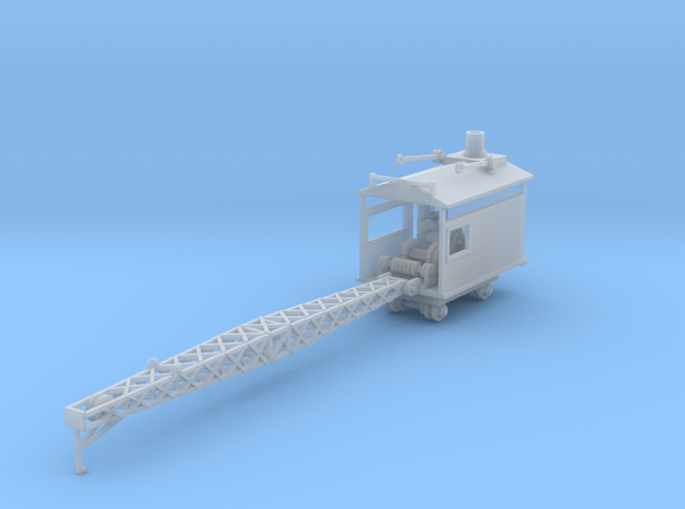 Logging rail car mounted crane Z scale