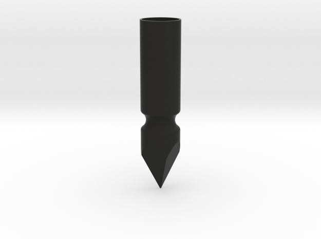 Short Bodkin Medieval Arrow Head in Black Natural Versatile Plastic