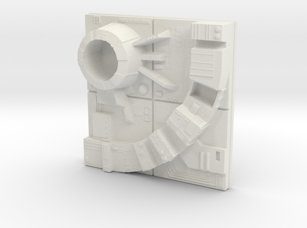tile_deathstar_19 in White Natural Versatile Plastic