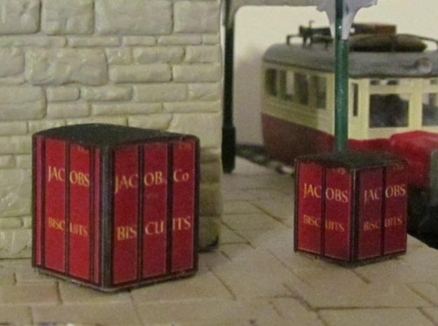 3mm Scale Jacob's Containers   in Black Natural Versatile Plastic
