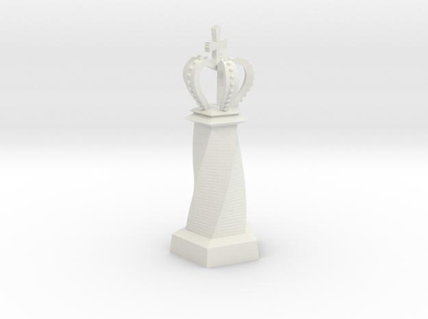 Geometric Chess Set King in White Premium Versatile Plastic