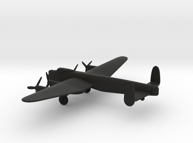 Avro Lancaster Dambuster in Black Natural Versatile Plastic: 6mm