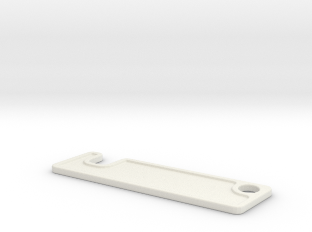 SMARTPHONEHOLDER_KEYRING 10mm Thickness in White Natural Versatile Plastic
