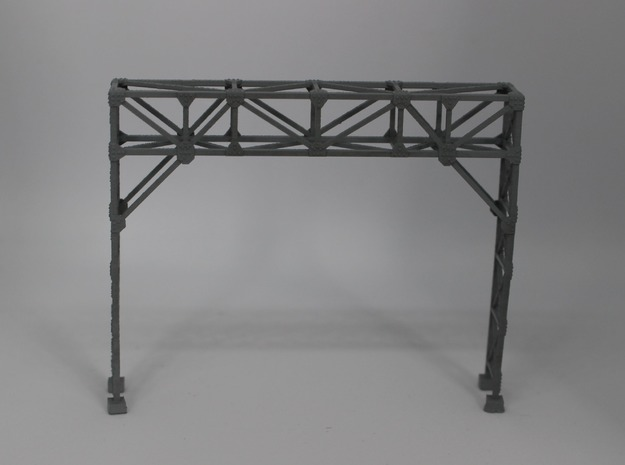 N Scale Signal Gantry 2 Tracks in Smooth Fine Detail Plastic