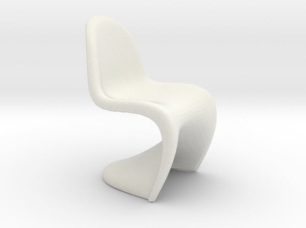 1/24 | G Scale Modern Chair Model for Diorama in White Natural Versatile Plastic