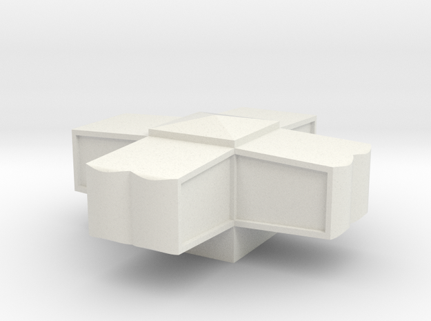 Modern House #1 (1/185)  in White Natural Versatile Plastic