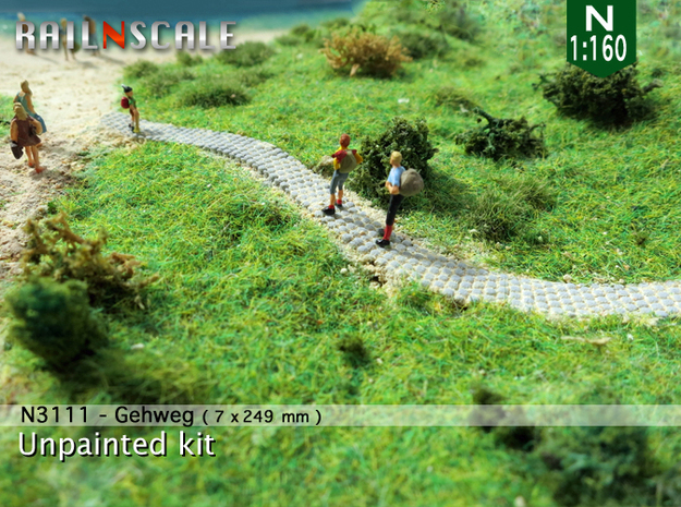 Gehweg (N 1:160) in White Natural Versatile Plastic
