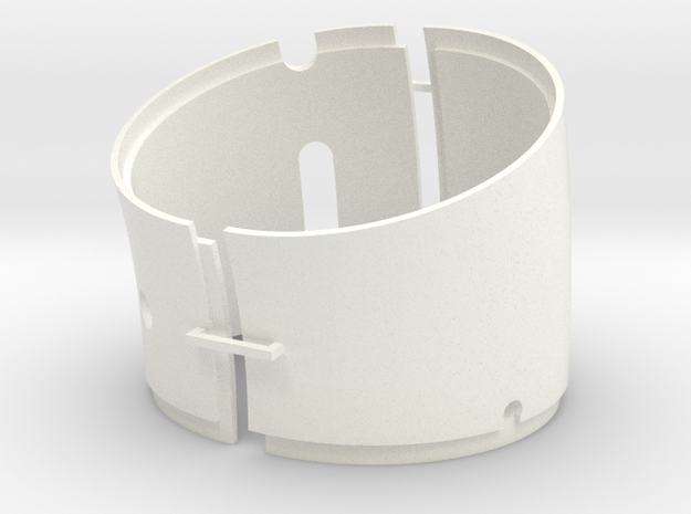 DeAgo Falcon Corridor - Port Tube Extension in White Processed Versatile Plastic