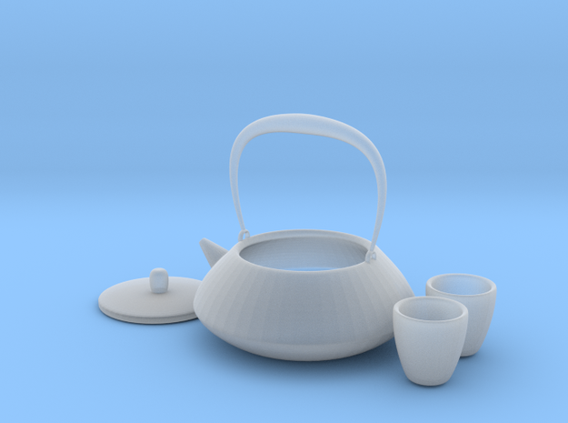 Japanese Tea Set 1/6 in Smooth Fine Detail Plastic
