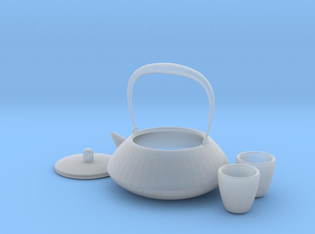 Japanese Tea Set 1/6 in Smoothest Fine Detail Plastic